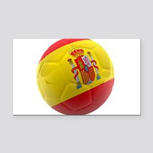 Spain world cup soccer ball Rectangle Car Magnet