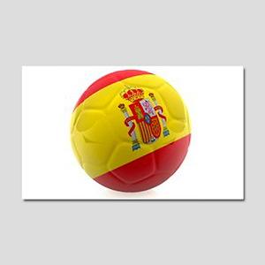 Spain world cup soccer ball Car Magnet 20 x 12
