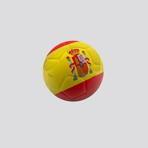 Spain world cup soccer ball Mini Button