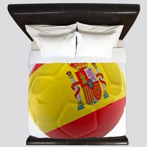 Spain world cup soccer ball King Duvet