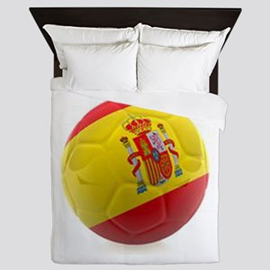 Spain world cup soccer ball Queen Duvet