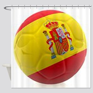 Spain world cup soccer ball Shower Curtain
