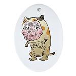 Grandma cat Ornament (Oval)