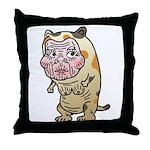 Grandma cat Throw Pillow