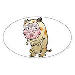 Grandma cat Sticker (Oval 10 pk)