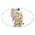 Grandma cat Sticker (Oval 50 pk)