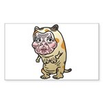 Grandma cat Sticker (Rectangle 10 pk)