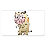Grandma cat Sticker (Rectangle 50 pk)