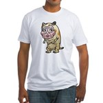 Grandma cat Fitted T-Shirt
