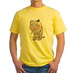 Grandma cat Yellow T-Shirt