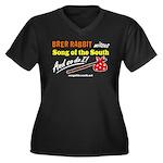 Brer Rabbit Women's Plus Size V-Neck Dark T-Shirt