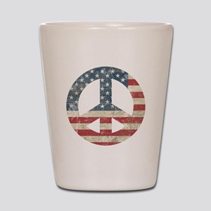 Vintage Peace In America Shot Glass