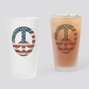 Vintage Peace In America Drinking Glass