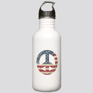 Vintage Peace In America Stainless Water Bottle 1.