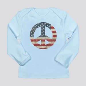 Vintage Peace In America Long Sleeve Infant T-Shir