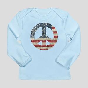 Vintage Peace In America Long Sleeve Infant T-Shir