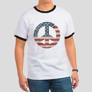 Vintage Peace In America Ringer T