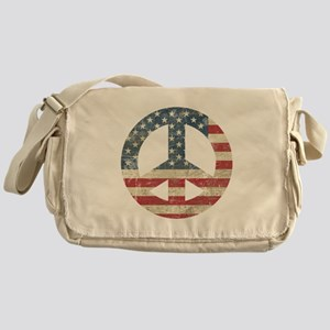 Vintage Peace In America Messenger Bag