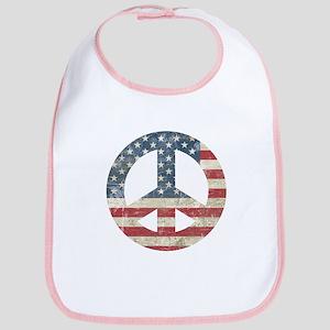 Vintage Peace In America Bib