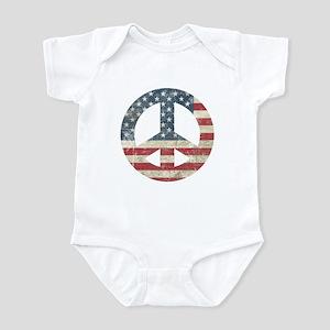 Vintage Peace In America Infant Bodysuit