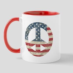 Vintage Peace In America Mug