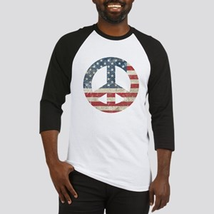 Vintage Peace In America Baseball Jersey