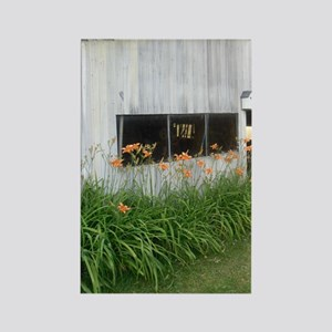 Barn Lilies Rectangle Magnet