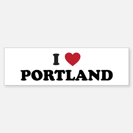I Love Portland Sticker (Bumper)