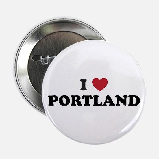 """I Love Portland 2.25"""" Button"""
