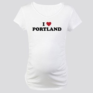 I Love Portland Maternity T-Shirt