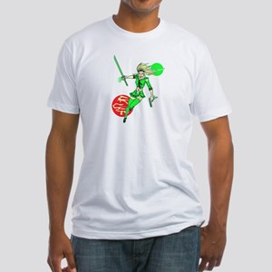 Emerald Doll Fitted T-Shirt (White)