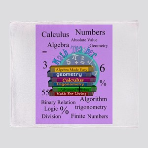 Math teacher cases Throw Blanket
