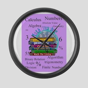 Math teacher cases Large Wall Clock