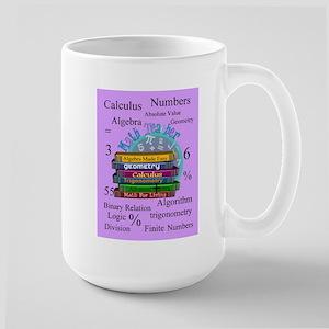 Math teacher cases Large Mug