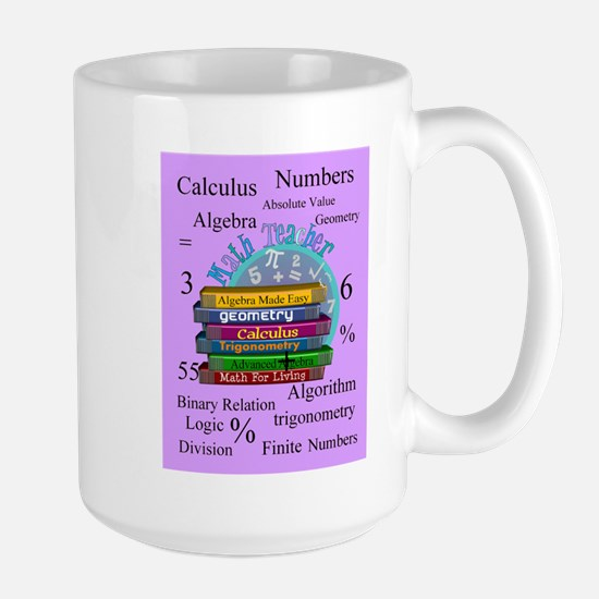 Math teacher cases.PNG Large Mug