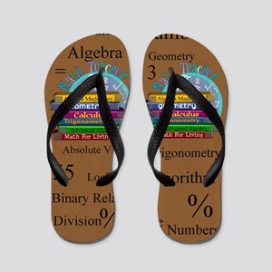 Math Teacher 4 Flip Flops
