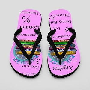 Math Teacher 3 Flip Flops