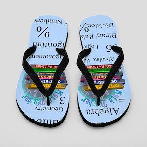 Math Teacher Flip Flops