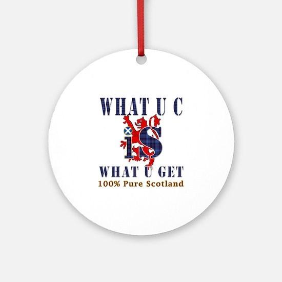 100 percent pure Scotland fun design Ornament (Rou