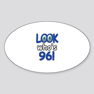 Look who's 96 Sticker (Oval)