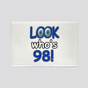 Look who's 98 Rectangle Magnet