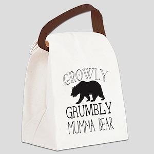 Growly Grumbly Mumma Bear Canvas Lunch Bag