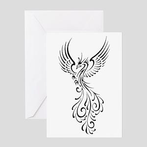 Phoenix greeting cards cafepress black phoenix bird greeting card m4hsunfo