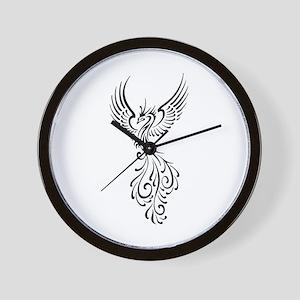 black-phoenix-bird Wall Clock