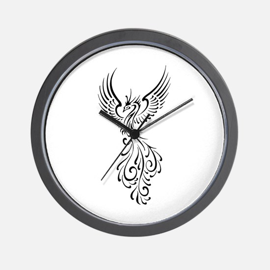 black-phoenix-bird.png Wall Clock