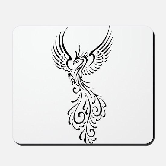 black-phoenix-bird.png Mousepad