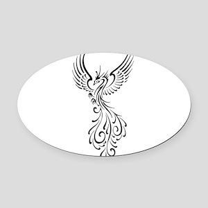 black-phoenix-bird.png Oval Car Magnet