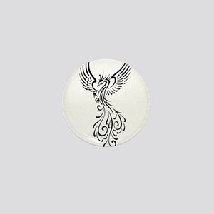 black-phoenix-bird Mini Button