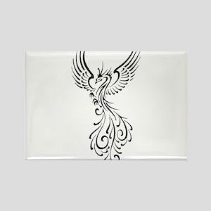 black-phoenix-bird Rectangle Magnet