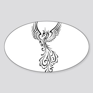 black-phoenix-bird Sticker (Oval)